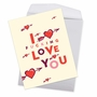 Humorous Valentine's Day Jumbo Card By Offensive+Delightful From NobleWorksCards.com - Heart and Arrow image 2