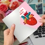 Hilarious Valentine's Day Printed Greeting Card From NobleWorksCards.com - Heart Map image 3