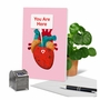 Hilarious Valentine's Day Printed Greeting Card From NobleWorksCards.com - Heart Map image 6