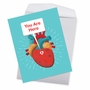 Hilarious Valentine's Day Jumbo Printed Card From NobleWorksCards.com - Heart Map image 3