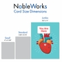 Hilarious Valentine's Day Jumbo Printed Card From NobleWorksCards.com - Heart Map image 5