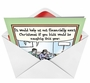 Humorous Christmas Printed Card by Dan Piraro from NobleWorksCards.com - Help Financially image 2