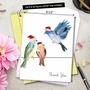 Stylish Blank Jumbo Printed Card by Carol Robinson from NobleWorksCards.com - High Wire Birds image 6