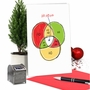 Hysterical Merry Christmas Printed Greeting Card From NobleWorksCards.com - Ho Ho Diagram image 5