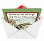 Funny Christmas Printed Card by Dan Piraro from NobleWorksCards.com - Holiday Anxiety image 2