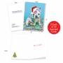 Artful Merry Christmas Greeting Card From NobleWorksCards.com - Holiday Dirty Dogs image 1