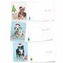 Artful Merry Christmas Greeting Card From NobleWorksCards.com - Holiday Dirty Dogs image 4