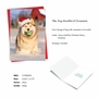 Humorous Merry Christmas Paper Card From NobleWorksCards.com - Holiday Dog Mouth image 2
