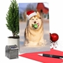 Humorous Merry Christmas Paper Card From NobleWorksCards.com - Holiday Dog Mouth image 6