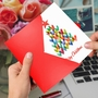 Stylish Merry Christmas Card From NobleWorksCards.com - Holiday Hearts image 3
