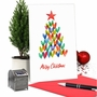 Stylish Merry Christmas Card From NobleWorksCards.com - Holiday Hearts image 6