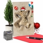 Creative Merry Christmas Greeting Card From NobleWorksCards.com - Holiday Sand Angels - Cat image 5