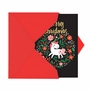 Humorous Merry Christmas Paper Card From NobleWorksCards.com - Holiday Unicorn image 2