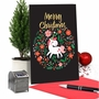 Humorous Merry Christmas Paper Card From NobleWorksCards.com - Holiday Unicorn image 5