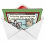 Hilarious Christmas Paper Greeting Card by Dan Piraro from NobleWorksCards.com - Holiday Week Off image 2