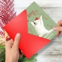 Humorous Merry Christmas Paper Card By Ashley Spires From NobleWorksCards.com - Holiday Yoganimals-Bear image 2