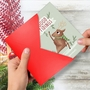 Funny Merry Christmas Card By Ashley Spires From NobleWorksCards.com - Holiday Yoganimals-Deer image 2
