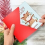 Hysterical Merry Christmas Greeting Card By Ashley Spires From NobleWorksCards.com - Holiday Yoganimals-Fox image 2