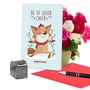 Hysterical Merry Christmas Greeting Card By Ashley Spires From NobleWorksCards.com - Holiday Yoganimals-Fox image 5