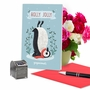 Funny Merry Christmas Paper Card By Ashley Spires From NobleWorksCards.com - Holiday Yoganimals-Penguin image 5