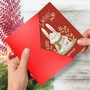 Humorous Merry Christmas Paper Greeting Card By Ashley Spires From NobleWorksCards.com - Holiday Yoganimals-Rabbit image 2