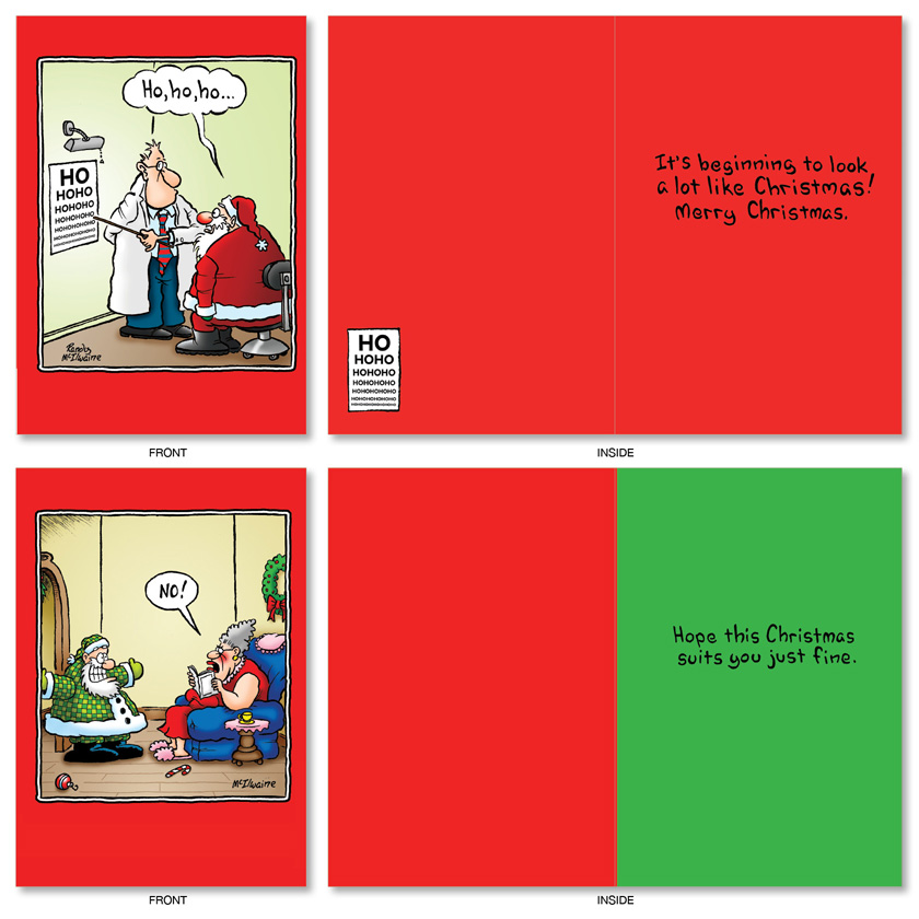 holly jolly rice cakes christmas assorted set of 20 cards