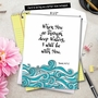Stylish All Occasions Jumbo Paper Card By Sagy, Batya From NobleWorksCards.com - Holy Sentiments - Deep Waters image 6