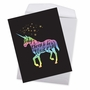Stylish Birthday Jumbo Paper Card From NobleWorksCards.com - Horns and Unicorns - Choose To Be image 2