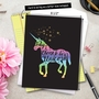 Stylish Birthday Jumbo Paper Card From NobleWorksCards.com - Horns and Unicorns - Choose To Be image 6