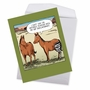 Humorous Get Well Jumbo Paper Card By Dave Coverly From NobleWorksCards.com - Horse Hip Replacement image 2