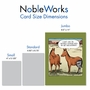 Humorous Get Well Jumbo Paper Card By Dave Coverly From NobleWorksCards.com - Horse Hip Replacement image 4