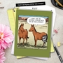 Humorous Get Well Jumbo Paper Card By Dave Coverly From NobleWorksCards.com - Horse Hip Replacement image 6