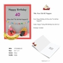 Funny Milestone Birthday Jumbo Paper Card By Thea Musselwhite From NobleWorksCards.com - How Did 40 Happen image 2