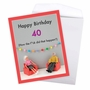 Funny Milestone Birthday Jumbo Paper Card By Thea Musselwhite From NobleWorksCards.com - How Did 40 Happen image 3
