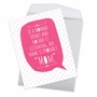 Humorous Mother's Day Jumbo Paper Greeting Card From NobleWorksCards.com - If A Woman Speaks image 3