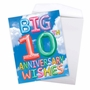 Stylish Milestone Anniversary Jumbo Card From NobleWorksCards.com - Inflated Messages - 10 image 3