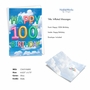 Stylish Milestone Birthday Paper Greeting Card From NobleWorksCards.com - Inflated Messages - 100 image 2