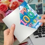 Stylish Milestone Birthday Paper Greeting Card From NobleWorksCards.com - Inflated Messages - 100 image 3