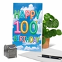 Stylish Milestone Birthday Paper Greeting Card From NobleWorksCards.com - Inflated Messages - 100 image 6