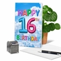 Funny Milestone Birthday Paper Card From NobleWorksCards.com - Inflated Messages - 16 image 5