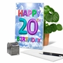 Humorous Milestone Birthday Paper Greeting Card From NobleWorksCards.com - Inflated Messages - 20 image 5