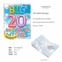 Stylish Milestone Anniversary Jumbo Paper Card From NobleWorksCards.com - Inflated Messages - 20 image 2