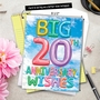 Stylish Milestone Anniversary Jumbo Paper Card From NobleWorksCards.com - Inflated Messages - 20 image 6