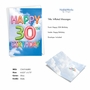Stylish Milestone Birthday Paper Card From NobleWorksCards.com - Inflated Messages - 30 image 2
