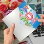 Stylish Milestone Birthday Paper Card From NobleWorksCards.com - Inflated Messages - 30 image 3
