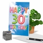 Stylish Milestone Birthday Paper Card From NobleWorksCards.com - Inflated Messages - 30 image 6