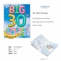 Stylish Milestone Anniversary Jumbo Paper Greeting Card From NobleWorksCards.com - Inflated Messages - 30 image 2