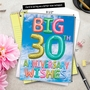 Stylish Milestone Anniversary Jumbo Paper Greeting Card From NobleWorksCards.com - Inflated Messages - 30 image 6