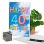 Stylish Milestone Birthday Paper Greeting Card From NobleWorksCards.com - Inflated Messages - 40 image 6