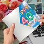 Creative Milestone Anniversary Printed Greeting Card From NobleWorksCards.com - Inflated Messages - 40 image 3